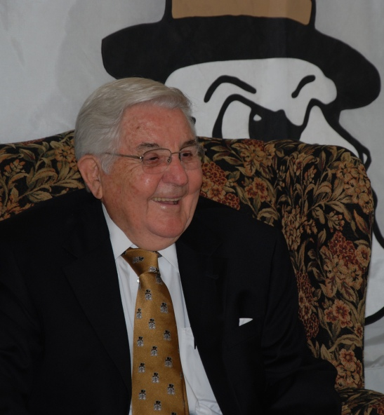 Dr. Bill Friday at one of his last public appearances, October 2011.
