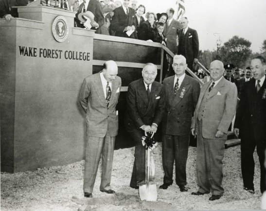 Truman at Groundbreaking
