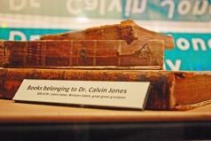 Books belonging to Dr. Calvin Jones