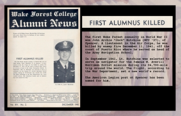 First Alumnus Killed