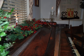 Christmas Decor on the Parlor Piano