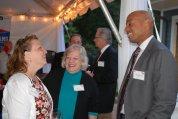 Heather Holding, Mayor Vivian Jones, and attorney Keith Shackleford.