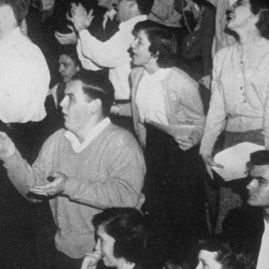 Crowd at Gore Gym, 1955