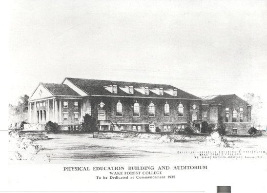 Sketch of Gore Gym