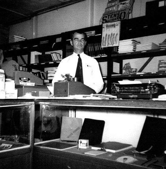 Everette Snyder in the College Book Store.