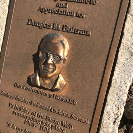 South side plaque for Buttram.